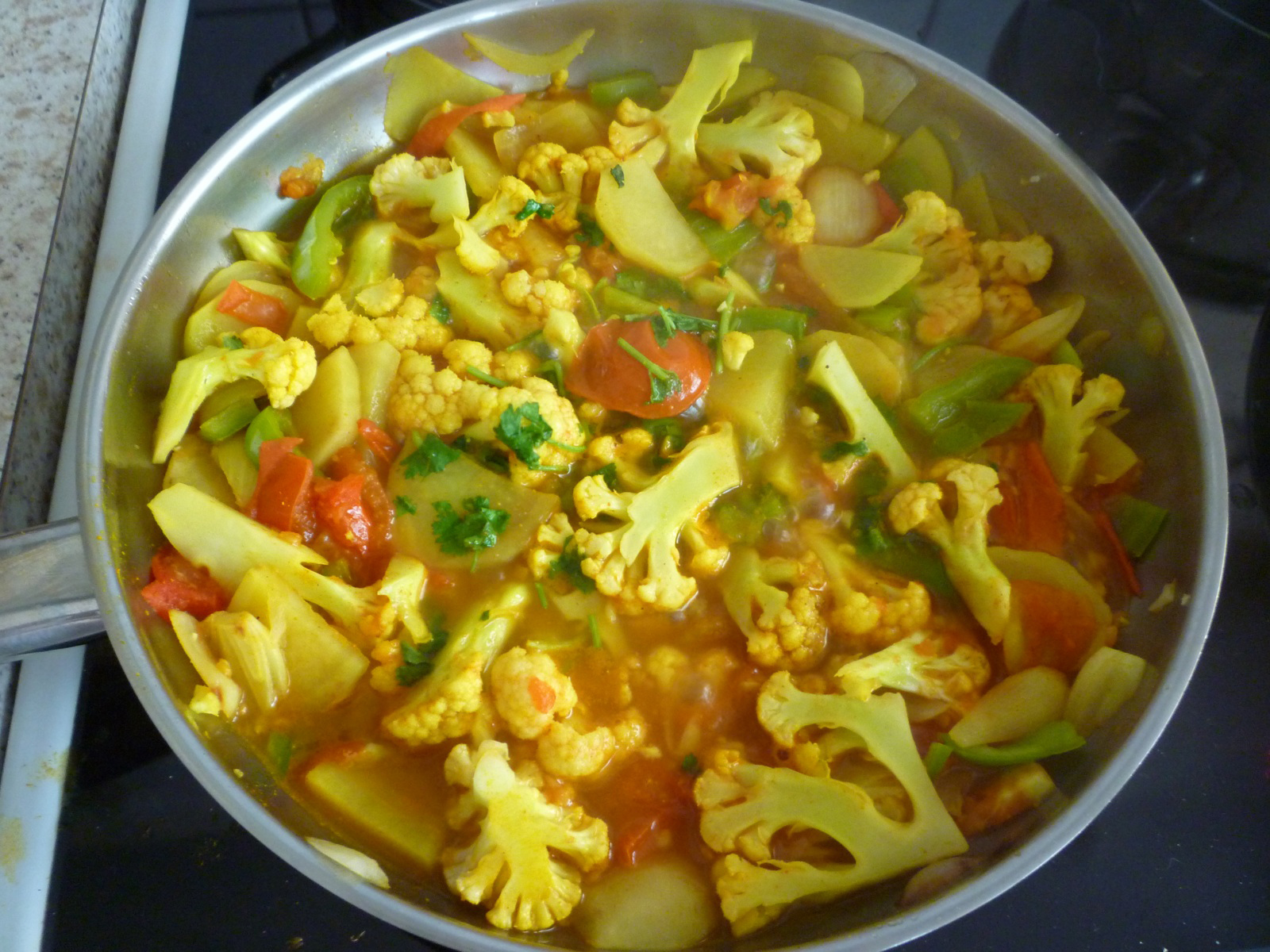 Peppers and Cauliflower Bhaji
