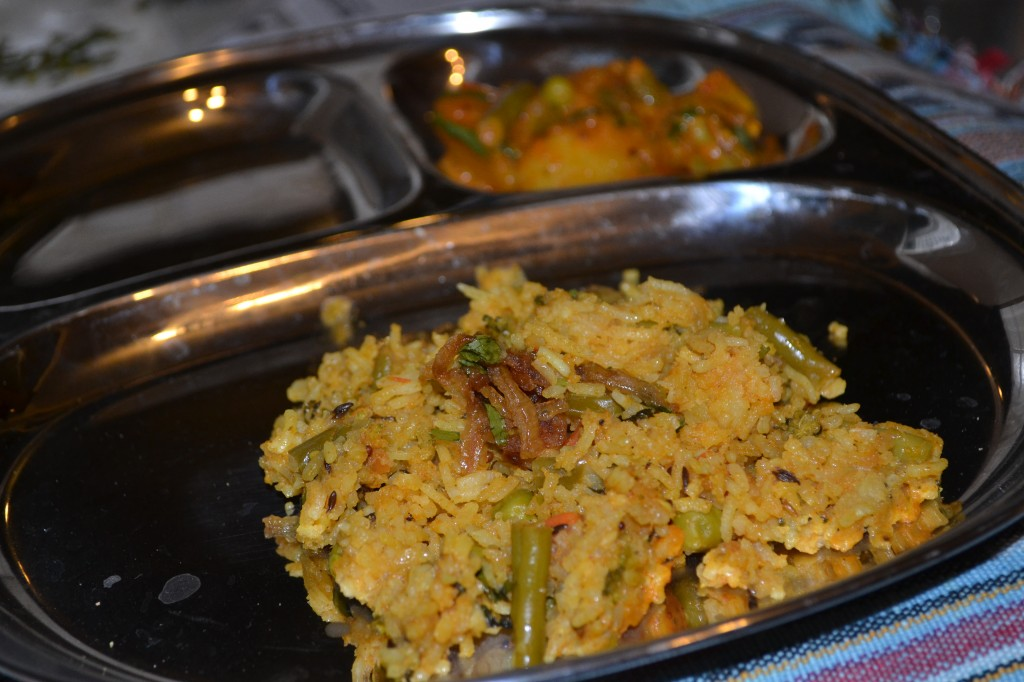 Veg biryani at Cochin Restaurant