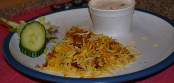 Chicken biryani at Kadiri's
