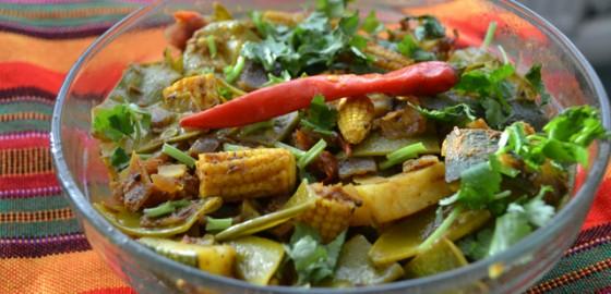 Left over vegetable bhaji