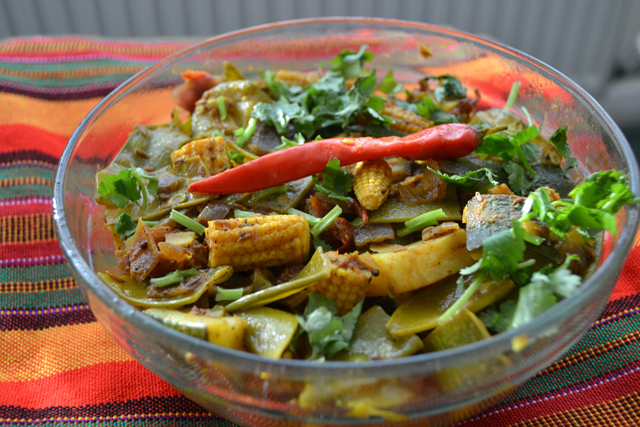 Left over vegetable bhaji