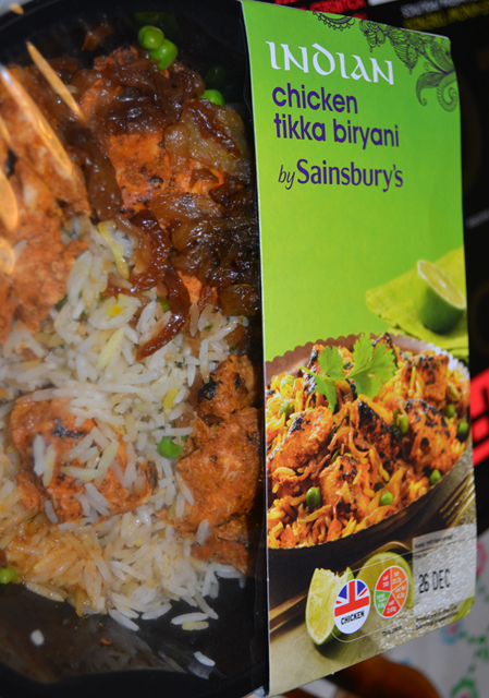 Chicken tikka biryani at Sainsbury's