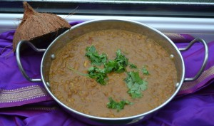 Recipe for whole Masoor Dal with a coconut base