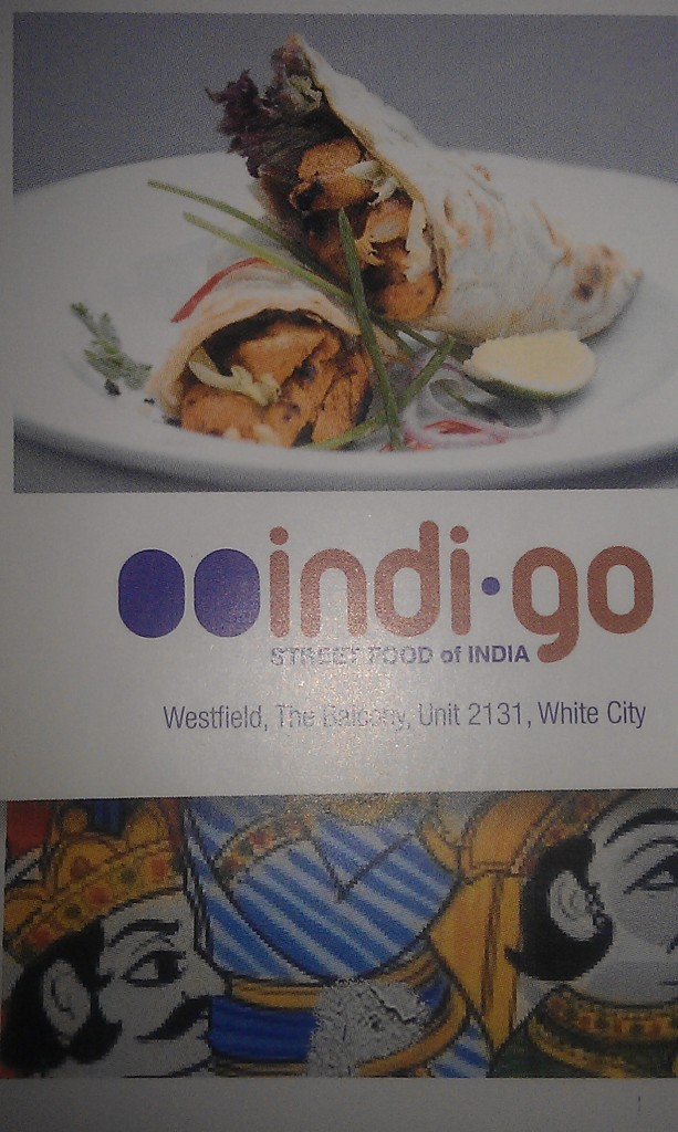 Chicken biryani from Indi-go Westfield
