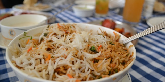 Chicken biryani at CCI