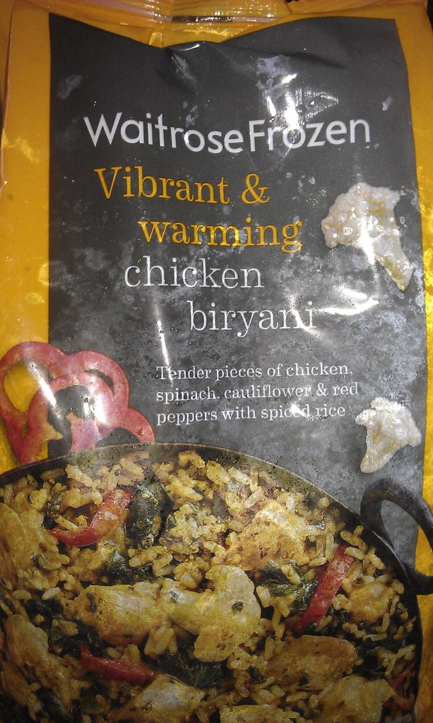 Waitrose Frozen chicken biryani